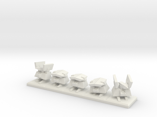 TA Construction Kbot Squad - 1cm tall in White Natural Versatile Plastic