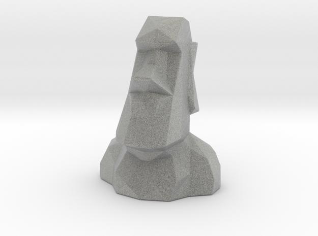 Easter Island Moai Statue in Metallic Plastic