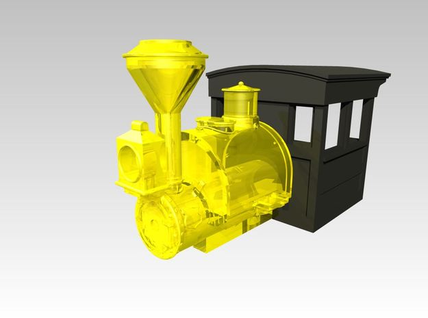 HOn30 Porter 1890s style Wood Cab 1 in Smoothest Fine Detail Plastic