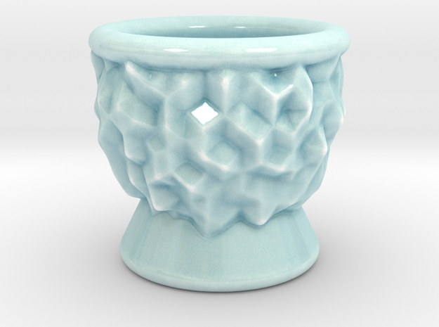 DRAW goblet - inverted geode in Gloss Celadon Green Porcelain: Small