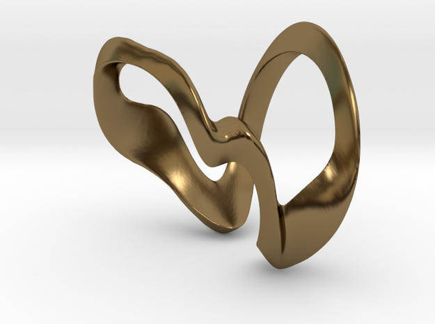 MG Ring - One Size in Polished Bronze