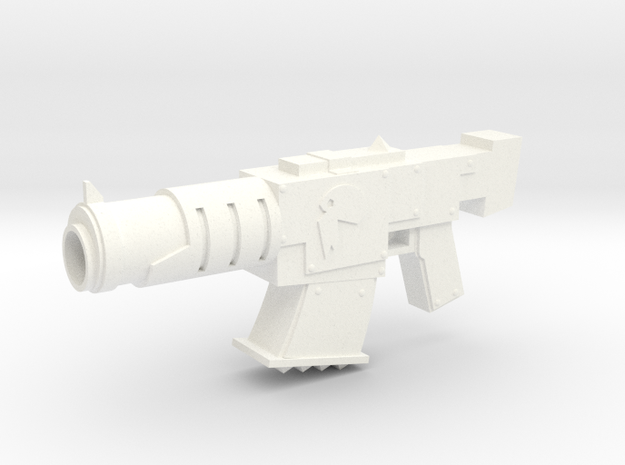 Ork Shoota in White Strong & Flexible Polished
