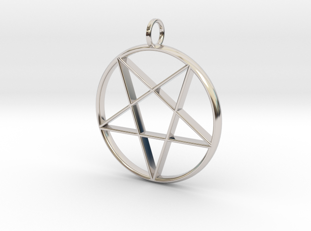 Eastern Star Pendant in Rhodium Plated Brass