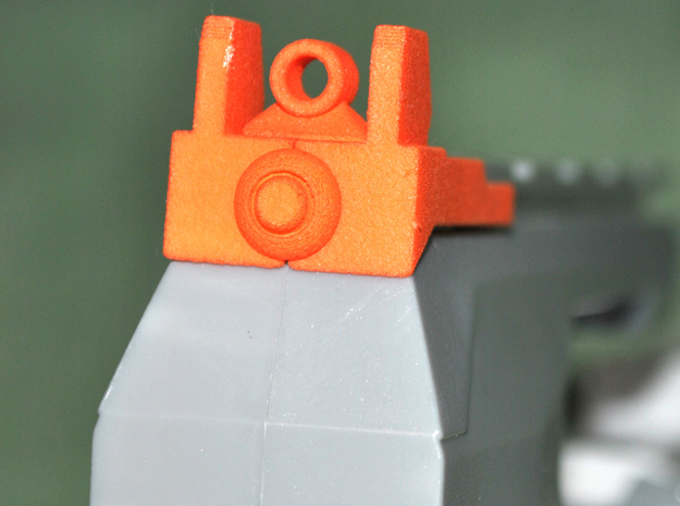 NERF MODULUS REAR SIGHT in Orange Strong & Flexible Polished