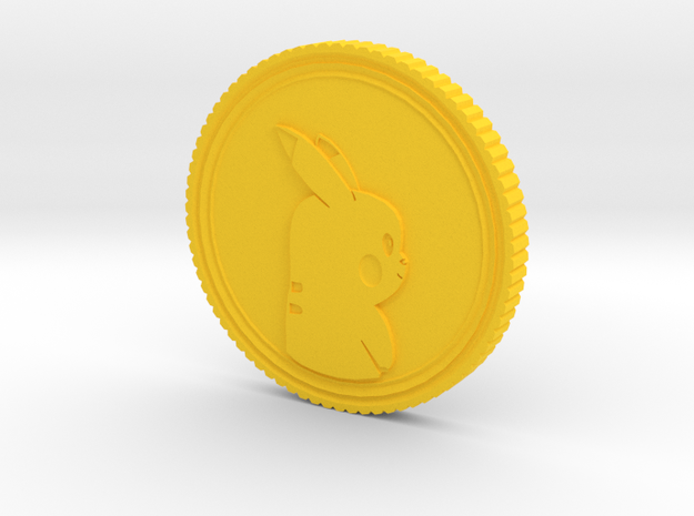 PokeCoin in Yellow Processed Versatile Plastic