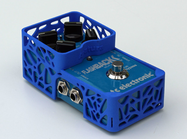 TC Electronic compact 4 knobs pedal cover in Blue Strong & Flexible Polished