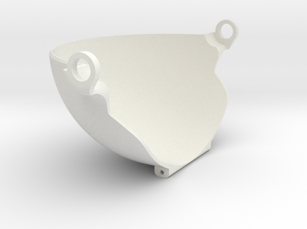 100mm UpperLid in White Natural Versatile Plastic