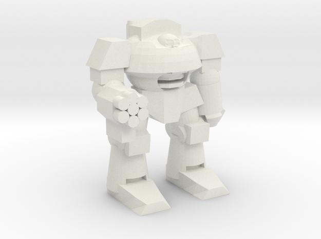 Cybernetic Super Soldier Walker in White Natural Versatile Plastic