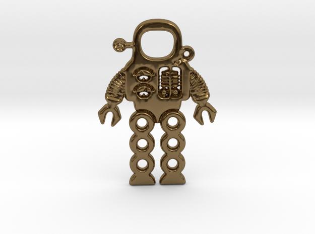 Mars Robot Pendant in Polished Bronze
