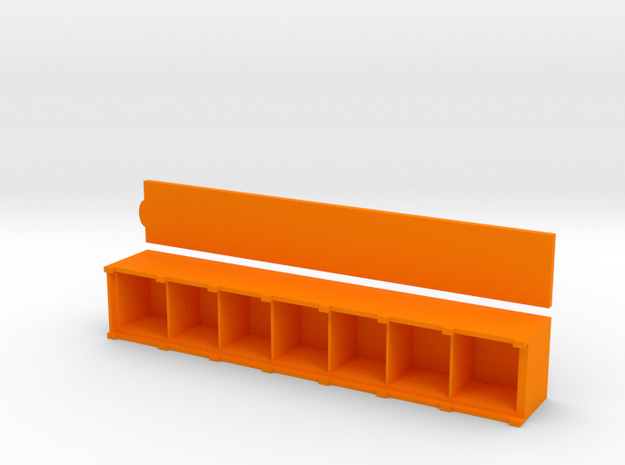 7 Day Pill Dispenser & Sliding Top in Orange Strong & Flexible Polished