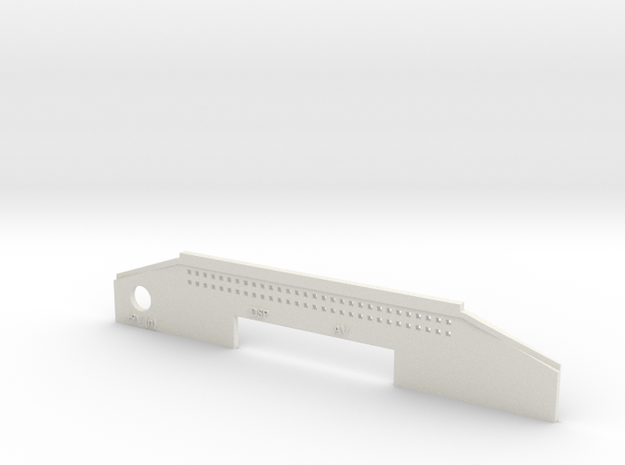 Jaguar White Case Back - NO Modulator in White Natural Versatile Plastic