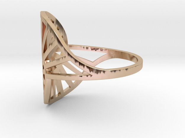 Nautilus Ring Size 9 in 14k Rose Gold Plated Brass