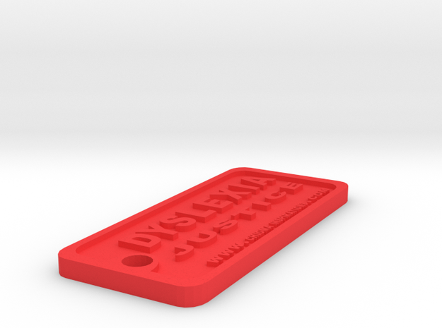 Tag-D-2 in Red Processed Versatile Plastic