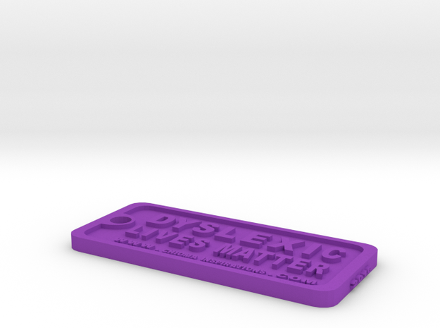 Tag-D-8 in Purple Processed Versatile Plastic