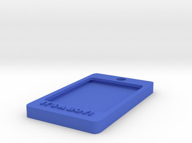 Tag-C-1 in Blue Processed Versatile Plastic