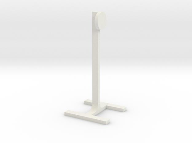 1:24 Scale Steel Challenge 10in Standard Target in White Natural Versatile Plastic
