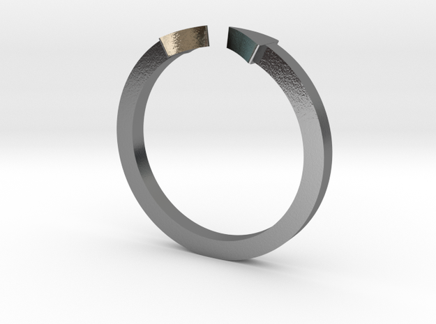 Double Triangle Mid Finger Ring