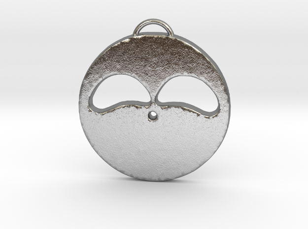 Hopeful Face in Natural Silver