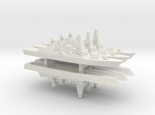 Type 45 DDG x 6, 1/2400 in White Natural Versatile Plastic