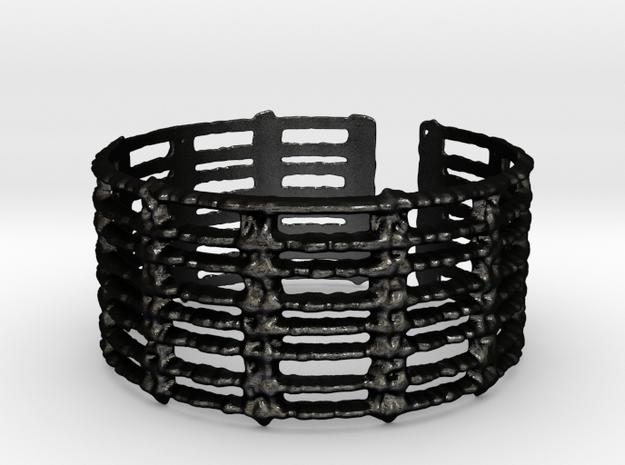 unraveled bracelet in Matte Black Steel