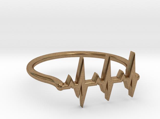 Vital ring in Natural Brass