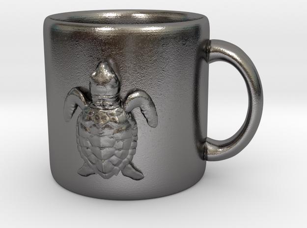 Kemps Ridley Baby Sea Turtle Coffee Mug  in Polished Nickel Steel