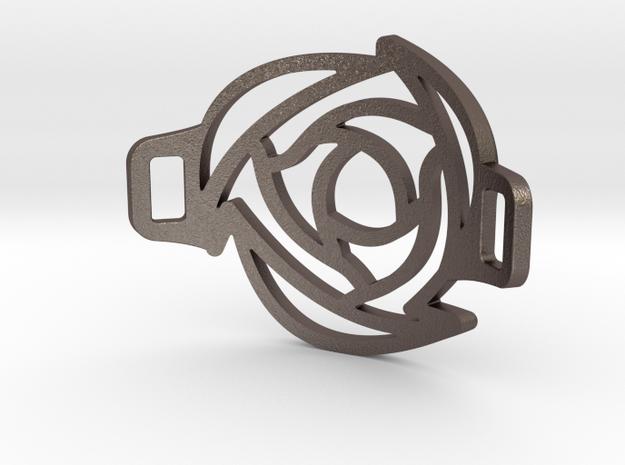 Rose Bracelet in Polished Bronzed Silver Steel