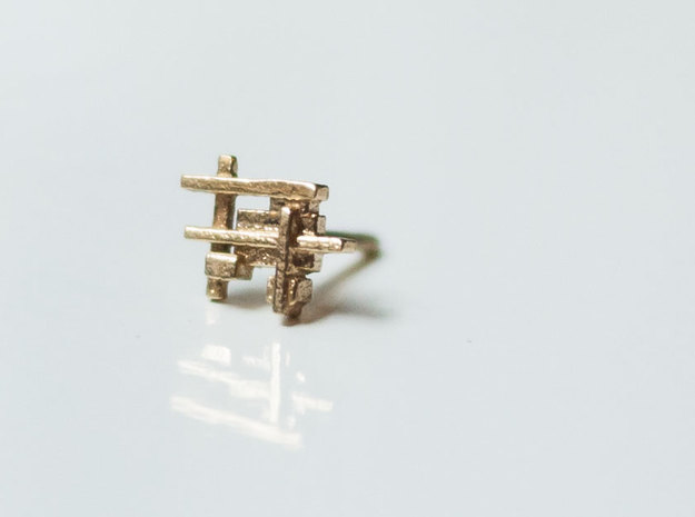 Squares and Bars Earring
