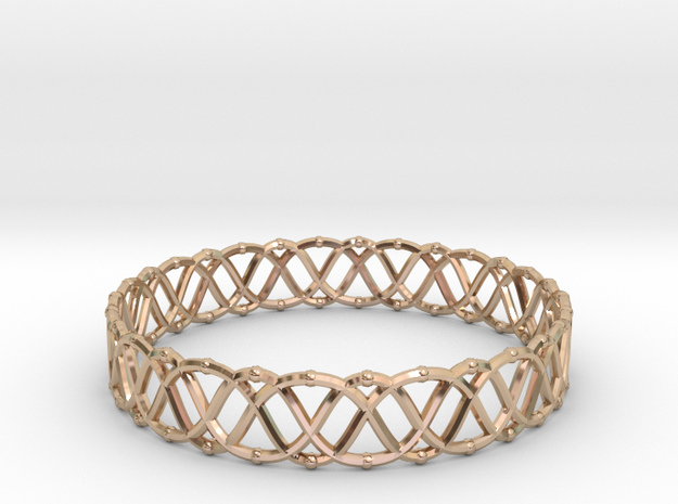 Bracelet 3 in 14k Rose Gold Plated Brass