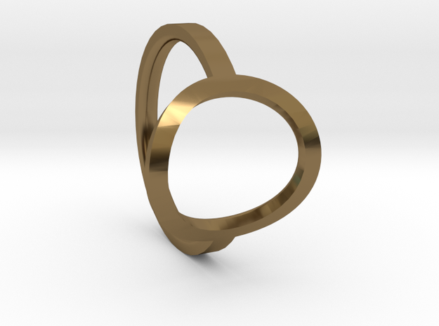 Simple Ring 111b7 in Polished Bronze