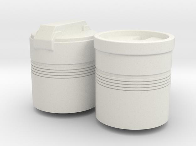 RMQ Concept Helmet Respirators in White Natural Versatile Plastic