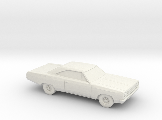1/87 1968-70 Plymouth Satellite GTX Coupe in White Natural Versatile Plastic
