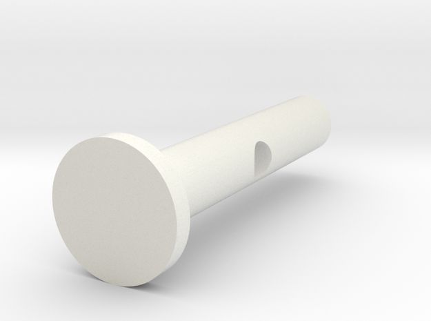 Locking Pin V2 in White Natural Versatile Plastic