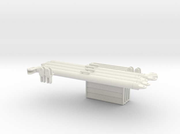 1:18 4 X IFF 2 X DRAWBAR  in White Strong & Flexible