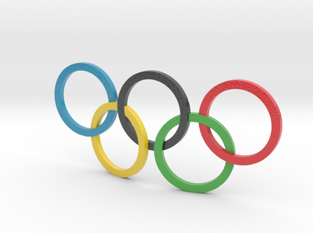 Colored Olympic Symbol  in Glossy Full Color Sandstone