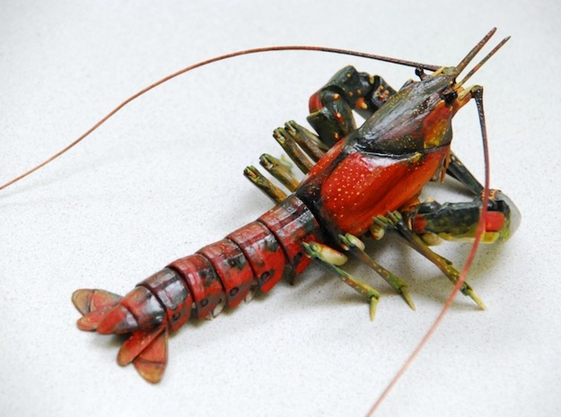 Articulated Crayfish in White Natural Versatile Plastic