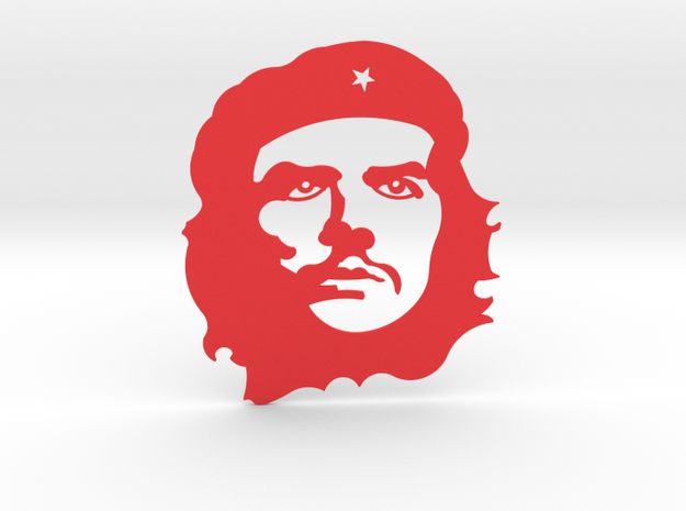 Che Guevara in Red Processed Versatile Plastic
