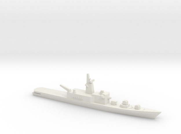 Haruna-class DDH (1973), 1/1800 in White Natural Versatile Plastic