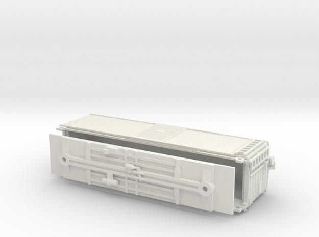 PRR X29B Boxcar Coarse Details No Cage N scale in White Natural Versatile Plastic