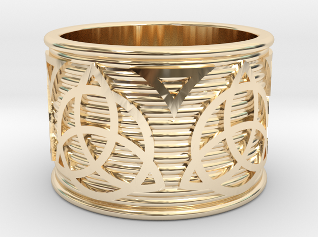 Celtic Ring size 14 or 23mm in 14K Yellow Gold