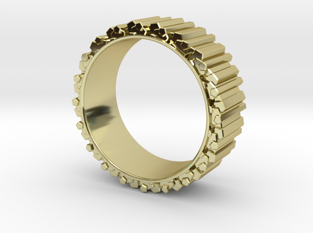 Crystal Ring - ring size ca 2 in 18k Gold Plated