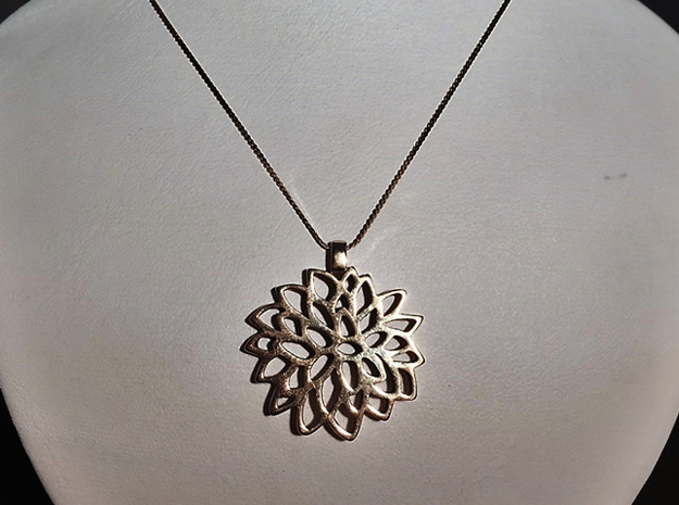 Carnation Pendant in Polished Brass
