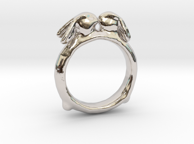 Ring of Bunnies in Rhodium Plated