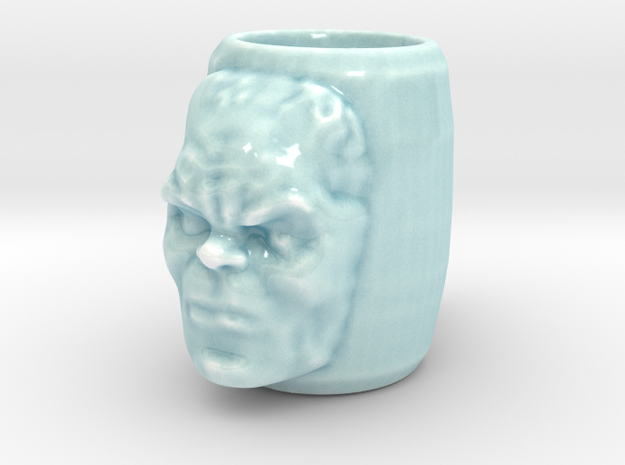Hulk mug in Gloss Celadon Green Porcelain