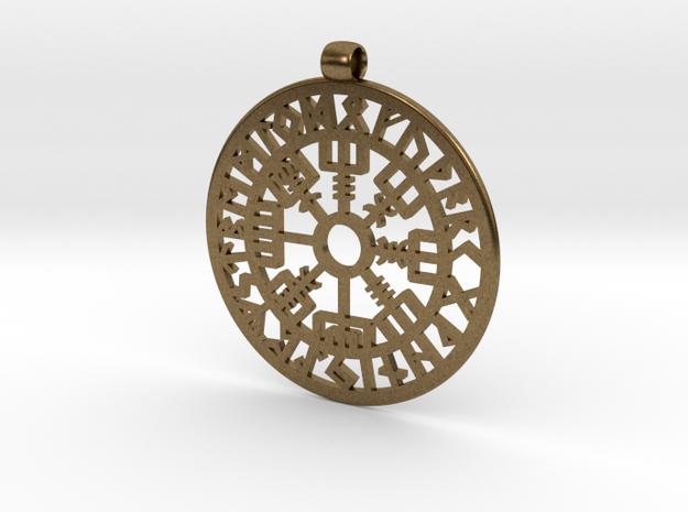 Vegvisir Nordic magical stave pendant
