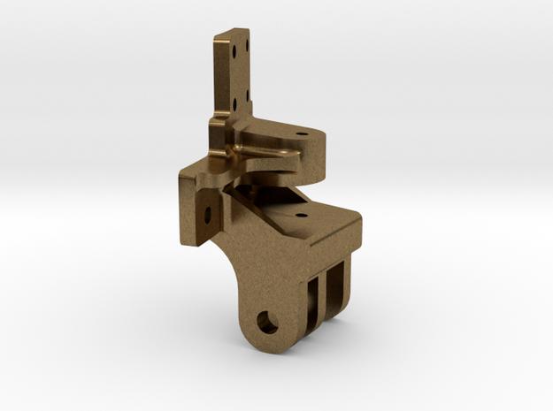 """3/4"""" scale smoke box door hinge in Raw Bronze"""