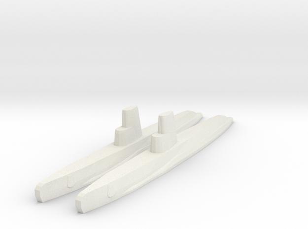 Guppy IIA x2 1/1800 in White Natural Versatile Plastic