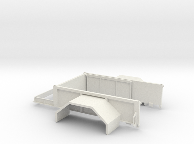 Expedition Bed in White Natural Versatile Plastic