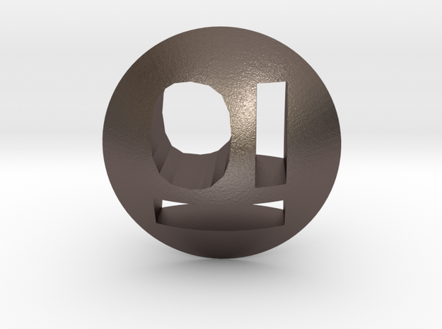 d2 Lens die (Binary, Punchthrough) in Polished Bronzed Silver Steel
