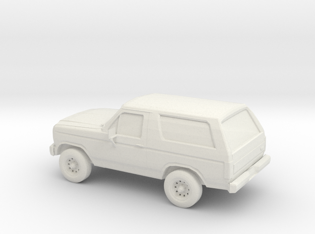 1/100 1984 Ford Bronco in White Natural Versatile Plastic
